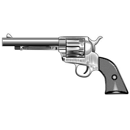 imagen de un revólver vintage