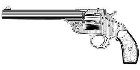 image of a vintage revolver