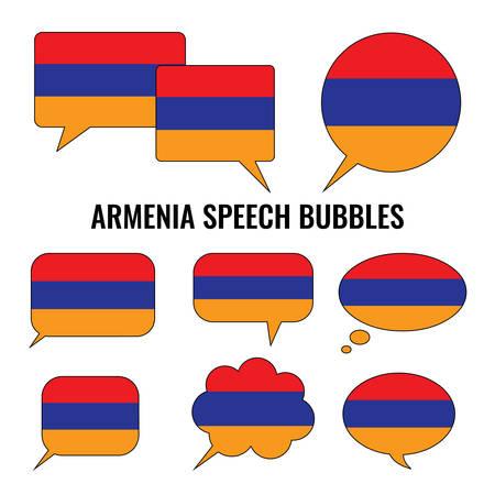 armenia: Armenia Speech Bubbles