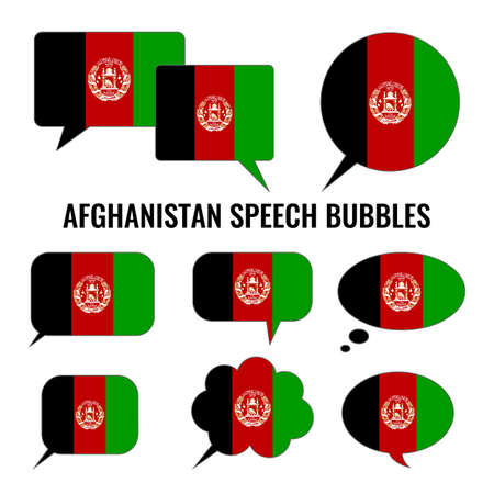afghan: Afghanistan Speech Bubbles