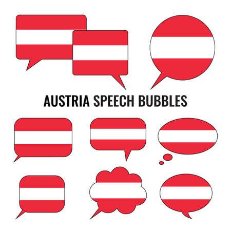 australie: Austria Speech Bubbles Illustration