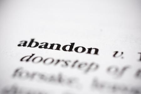 waive: Abandon
