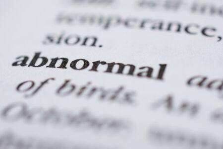 Abnormal Stock fotó