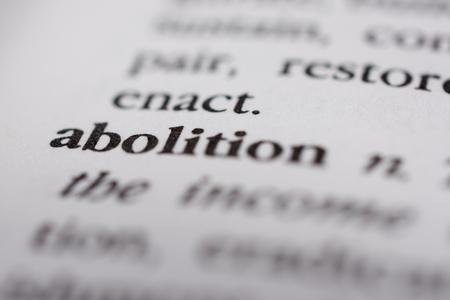 continuation: Abolition Stock Photo