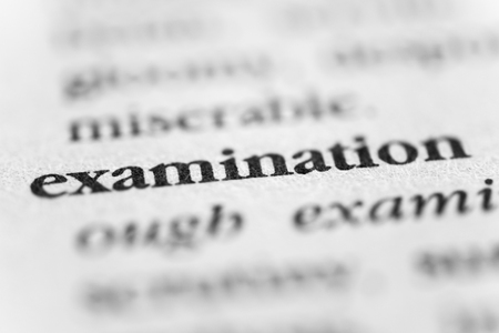 scrutiny: Examination Stock Photo