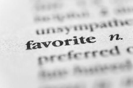 favored: Favorite