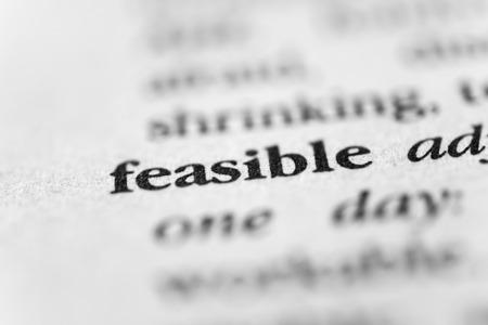 viable: Feasible