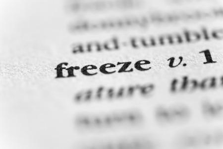 solidify: Freeze Stock Photo