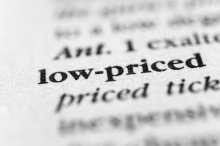 Low-priced Stock fotó