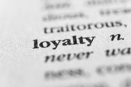 Loyalty Stockfoto