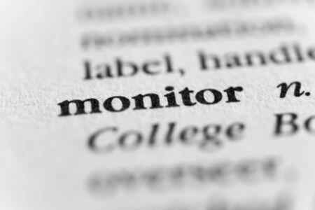supervise: Monitor Stock Photo