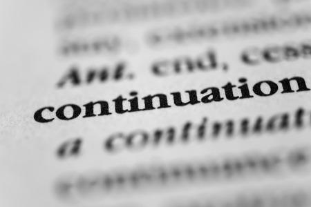 durability: Continuation Stock Photo
