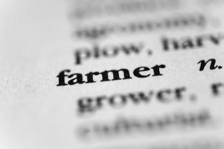 granger: Farmer Stock Photo