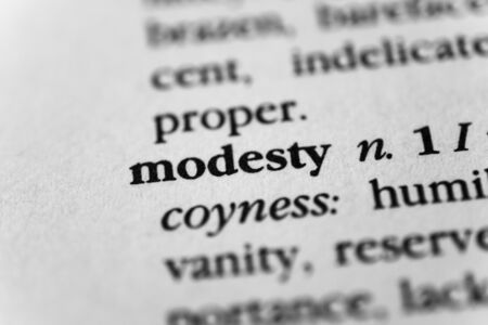 bashfulness: Modesty Stock Photo