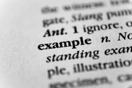 Exemplar: Example