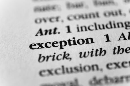 irregularity: Exception