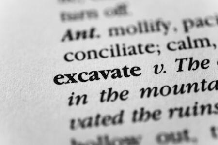 gouge: Excavate