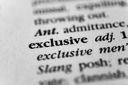 excluding: Exclusive