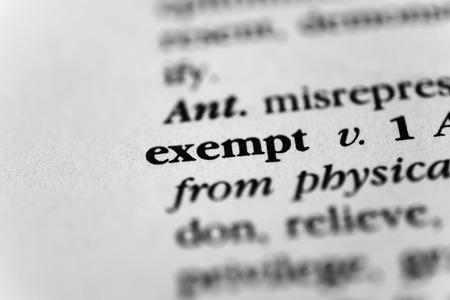exempt: Exempt Stock Photo