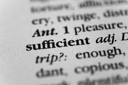 sufficient: Sufficient