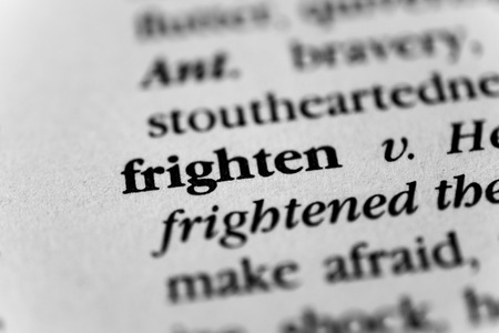 fearsome: Frighten Stock Photo