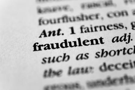 fraudulent: Fraudulent