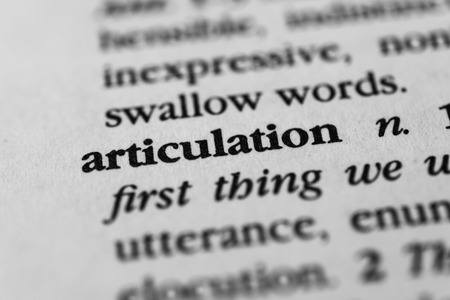 articulation: Articulation Stock Photo