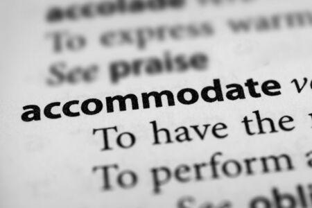 accommodate: Accommodate