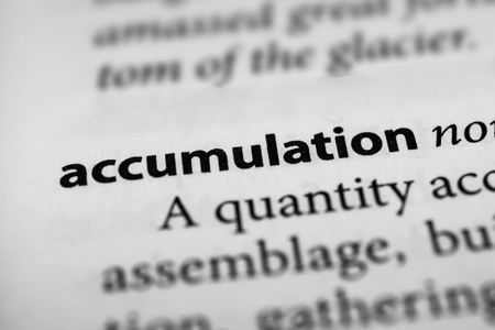 accretion: Accumulation Stock Photo