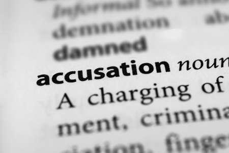 allegation: Accusation