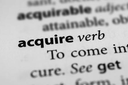 acquire: Acquire Stock Photo