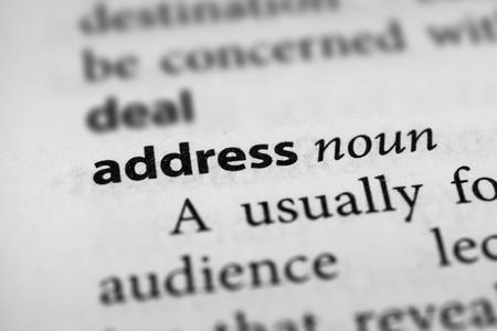 monologue: Address Stock Photo
