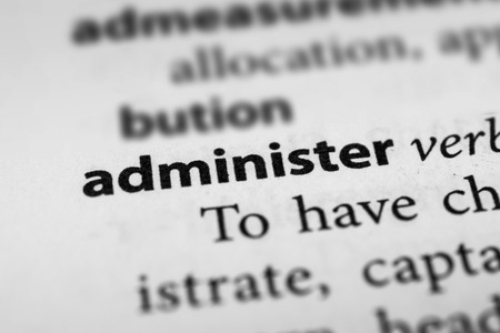 administer: Administer Stock Photo