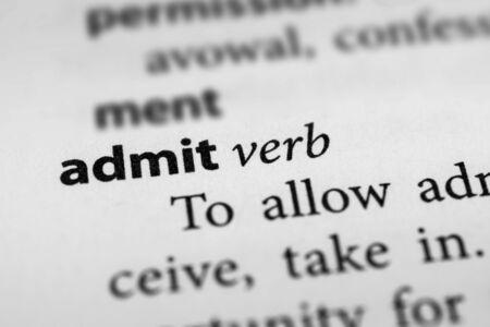 concede: Admit