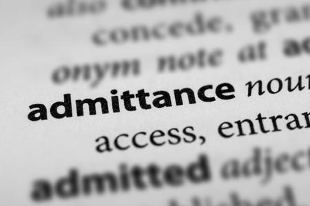 admittance: Admittance Stock Photo