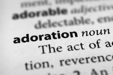 glorification: Adoration Stock Photo