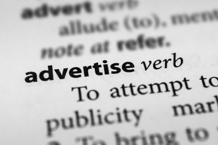 advertise: Advertise Stock Photo