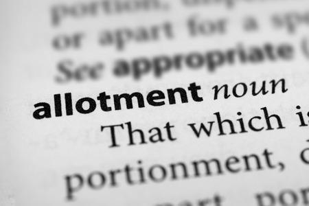 Allotment