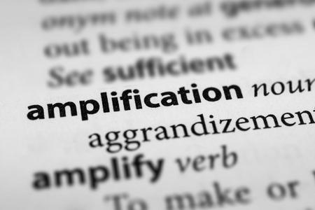 Amplification 版權商用圖片