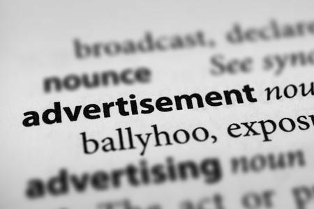 make known: Advertisement