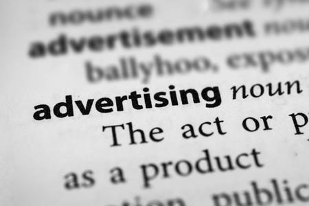 make known: Advertising