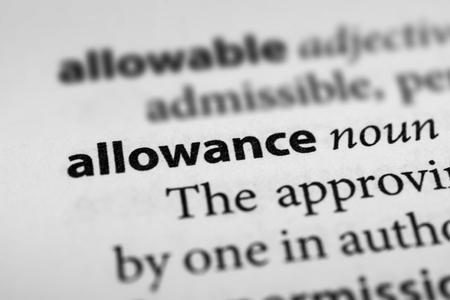 subsidy: Allowance Stock Photo