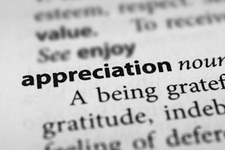 agradecimiento: Apreciaci�n