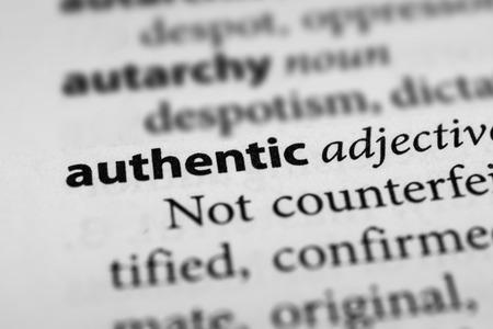 legitimate: Authentic