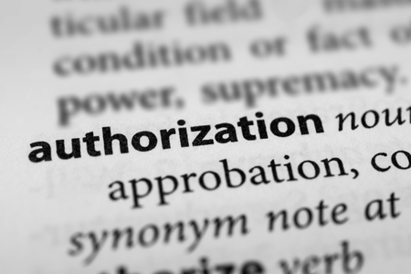 mandate: Authorization Stock Photo
