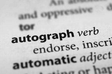 autograph: Autograph