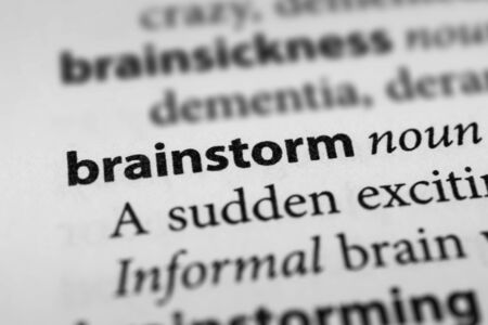 brainteaser: Brainstorm Stock Photo