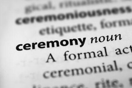 formalities: Ceremony
