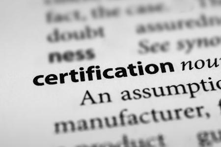 credentials: Certification