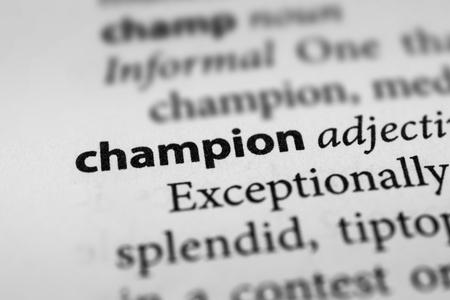 proponent: Champion Stock Photo